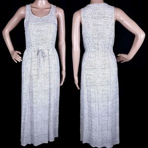 Lucky Brand Dress Maxi Sleeveless Drawstring